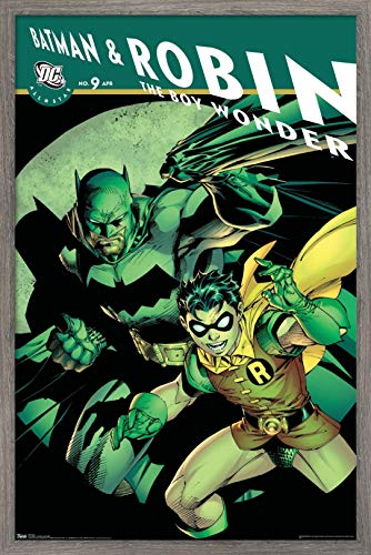 Trends International DC Comics - Batman and Robin The Boy Wonder Wall Poster, 14.725' x 22.375', Barnwood Framed Version