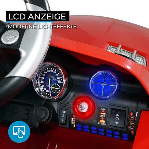 RC Auto kaufen Kinderauto Bild 2: Kinder Elektroauto Mercedes Lizenziert SLS AMG Original Lizenz Kinderauto Kinderfahrzeug Elektro Spielzeug für Kinder (Rot)*