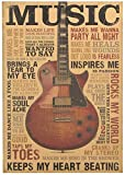 htrdjhrjy Einfach 51.5x36cm Musik Gitarre Retro Kraftpapier