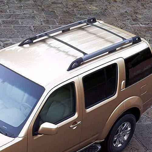 De coches Accesorios for automóviles barras de techo Par OE aluminio estilo barras de techo superior de la barra cruzada reemplazo ajuste fit For Nissan Pathfinder 05-12 Piezas Portaequipajes