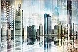 Poster 91 x 61 cm: Frankfurter Skyline (Collage), abstrakt