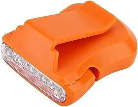 Clip koplamp, 2 kleuren 5 LED cap clip koplamp licht hoed hoofdlamp voor vissen, wandelen, kamperen en andere outdooractiv...
