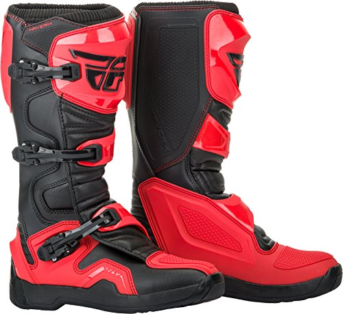 FLY Racing Maverik Boots for Motocross, Off-road, and ATV riding (SZ 13,RED/BLACK)