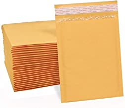 UCGOU 4x8 Inches Kraft Bubble Mailers Self Seal Padded Envelopes Pack of 50