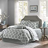 Madison Park Essentials MPE10-085 Merritt Complete Bed and Sheet Set, Full, Grey