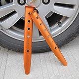 LQUIDE 31cm en Forma de U Nieve Playa de uñas Accesorios de Aluminio Carpa Carpa estaca Varilla reparación de construcción Clavija Soporte, Naranja