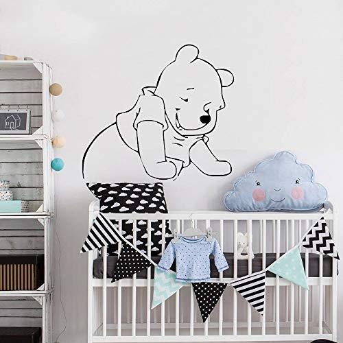 Winnie l'ourson décalque Winnie Cartoon pour chambres d'enfants bébé fille garçon Home Decor sommeil mignon ourson