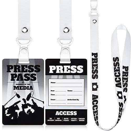 Juego de 10 Sets Pases de Fiesta de Prensa Disfraz de Accesorios de Halloween de Insignia de Identificación Novedad de Pase Fiesta de Prensa Cordón Etiqueta de Pase Fiesta de Prensa