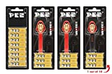 Set de dispensadores PEZ LA CASA DE PAPEL (3 dispensadores con 3 recargas de caramelos PEZ de 8,5g) + 3 paquetes de recargas (8 recargas de caramelos PEZ de 8,5g)