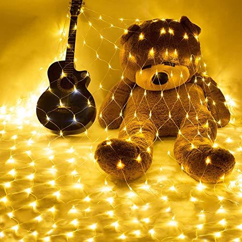 Luces para Navidad Fiesta,Red de luces LED para Exteriores,Cortina de Luces de Hada Interior,Luces de Hadas,LED Guirnalda Luminosa