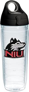 Tervis Northern Illinois Huskies Logo Insulated Tumbler with Emblem and Black with Gray Lid, 24oz Water Bottle, Clear