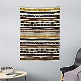 ABAKUHAUS Tribal Tapiz de Pared y Cubrecama Suave, Étnico Africano con Trippy Formas Geométricas Atemporal Herencia Salvaje, Objeto Decorativo Lavable, 110 x 150 cm, Multicolor