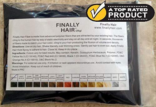 Hair Building Fibers Black 25 Grams…
