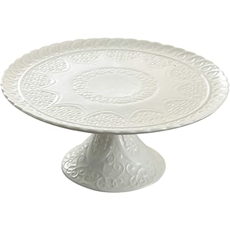 Amazon Com New Beaded Cake Stand White Cake Stands