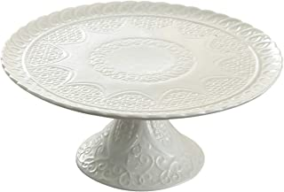 Jusalpha White Porcelain Decorative Cake Stand-Cupcake Stand (Stand only, no dome)