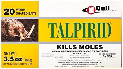 Bell Laboratories Talpirid 7150 Mole Bait Worms, 20 Count