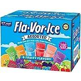 Fla-Vor-Ice Assorted Freezer Pops 6 Fruity Flavors 18.75lb 200 Count (Pack of 01)