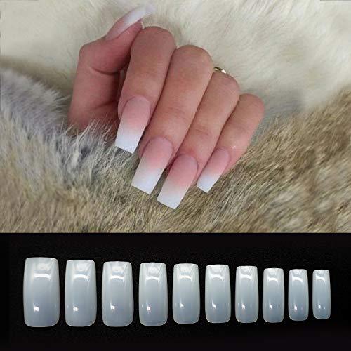 Vivid Stella Capsules Ongles Naturel Colle Faux Ongle de Carré Kit Ongles Artificielle Ongle Gel kit Complet Salons 500 Pièces Halloween Noël