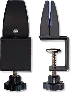 パネル固定 パーテーション アクリルパネル クランプ 固定部品 取り付け クリップ デスク取り付け 固定金具 アクリル3〜10mm厚対応 ブラック 2個セット