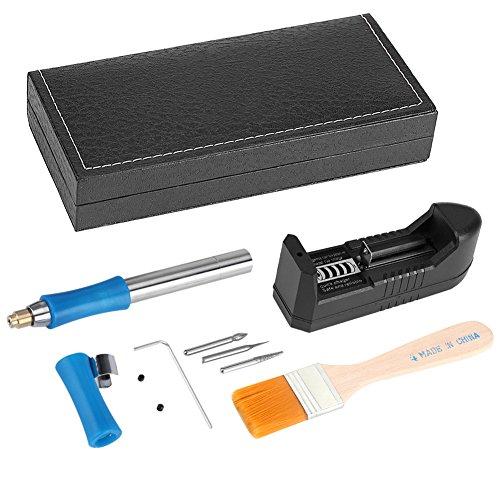 Kit Pirograbador de Madera, Pluma grabadora de grabado eléctrico, mini herramienta de tallado de mano recargable para bricolaje Joyería Joyería Pulido Jade Madera