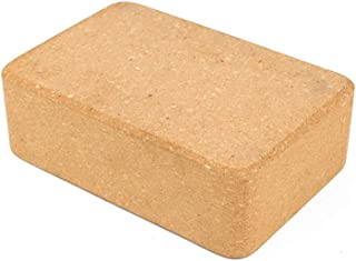 Yeawooh Yoga Block, 1PC Non-Slip Natural Soft Cork Yoga Brick Fitness Assisted Accessories