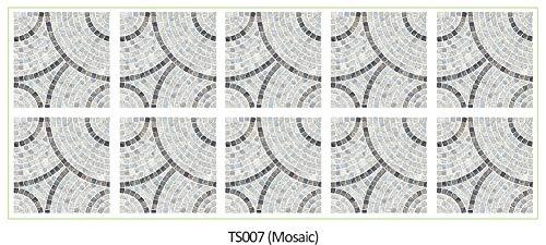 10 unids/Lote 20x20cm 15x15cm Etiquetas de Pared a Prueba de Agua Etiquetas de Pared de Mosaico Cuadrado decoración decoración Mural DIY en Muebles Cocina baño (Color : TS007, Size : 15cmX15cm)