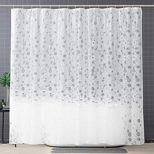 OTraki Duschvorhang 240x200cm (Breite x Höhe) PVC-frei Umweltfre&lich Shower Curtains 3D Halb-transparent Wasserdicht Anti Schimmel Bad Vorhang mit 16 Duschvorhangringen