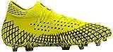PUMA Future 4.1 Netfit FG/AG, Botas de fútbol para Hombre, Yellow Alert Black, 43 EU