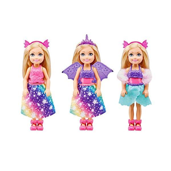 Barbie Chelsea Dreamtopia Muñeca se disfraza con accesorios de moda y disfraces de juguete (Mattel GTF40)