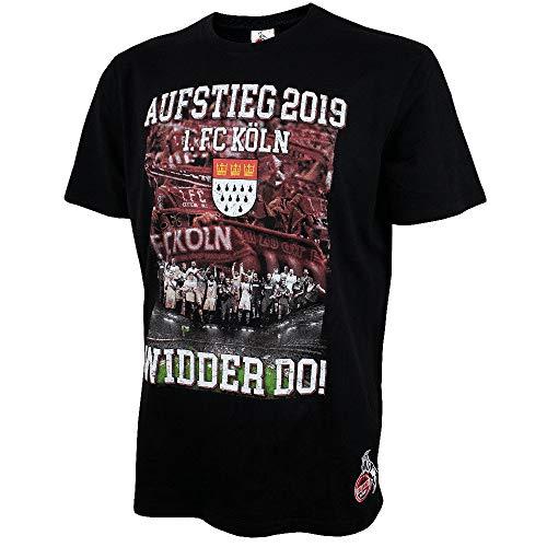 1. FC Köln Aufsteigershirt 2019 T-Shirt, Shirt zum Aufstieg - Plus Aufkleber Köln Forever (XXL)