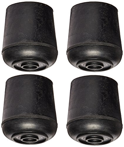 Mintcraft 500-9311 Rubber Leg Tip, 1-1/4', Black 4 pack