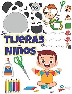 Tijeras Niños: Aprende a recortar y pegar para niños 3 años, libros recortables.