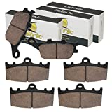 Caltric Front Rear Brake Pads Compatible With...