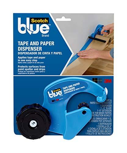 Scotch Painter's Tape M1000-SBN Cutting Blade Painter's Tape, Masking Tape & Paper Dispenser, Blue