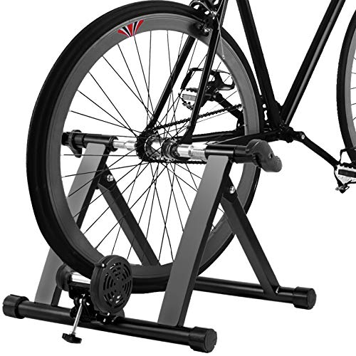 Popsport Bike Trainer Stand 330LBS Indoor Bicycle Trainer 750W Flowing Resistance Indoor Bike Trainer Exercise Stand for Indoor Riding Training and Exercise, 6 Resistance