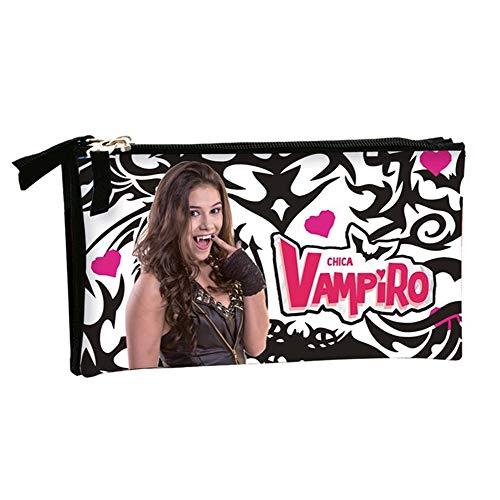 Estuche escolar triple Chica Vampiro