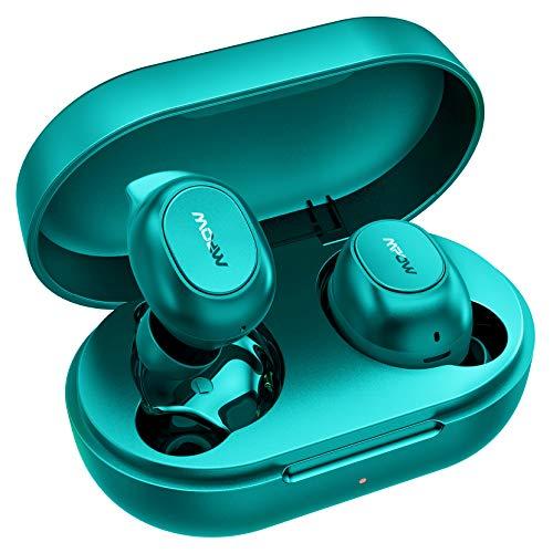 Auricolari Bluetooth Sport,Mpow Mdots Cuffie Bluetooth Senza Fili Con Bassi Potenti, Cuffie Sportiva Faclie Controllo,Cuffie Senza Fili Con Modalità Doppia e Mono,Cuffie da 20 Ore/IPX6/Microfoni/verde