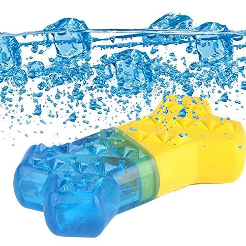 YYWJ Mordedor para mascotas congelable para masticar juguete de verano para mascotas resistente a la mordedura de juguete de refrigeración para perros, se puede llenar con agua