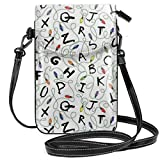 Passport, Credit Card Universal Cell Phone Purse - Ani-Theft Waterproof Multipurpose Cosmetic Bag Stranger Letter Things White Wristlet Convertible Cross Body Bag