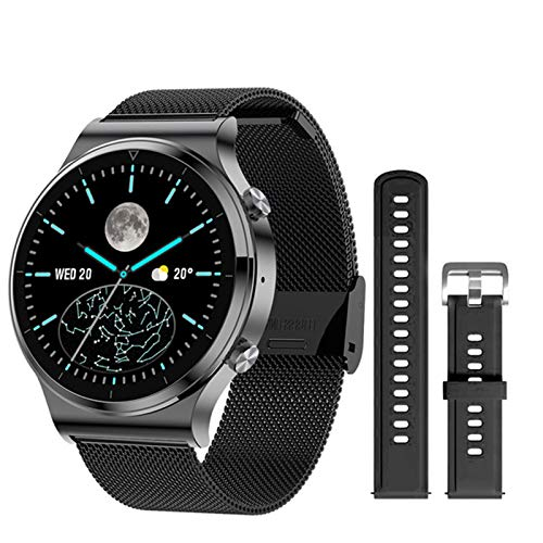 ZYDZ S600 Redondo Smart Watch Men Support Bluetooth Llamada a Prueba de Agua Tasa del corazón a Prueba de Agua 1.3 Pulgadas Pantalla de Color Custom RELOJAR Cara SMARTWATCK Hombre Android iOS,D