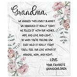 Flannel Blanket-Personalized Fleece Bed Throw Gift for Grandma, Nana, Mimi, Warm Cozy Soft Blanket- 1 Sheet(A-tg)