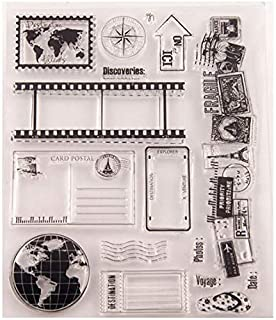 Welcome to Joyful Home 1pc Globe Map Rubber Clear Stamp for Card Making Decoration and Scrapbooking