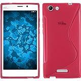 PhoneNatic Case für Wiko Ridge Fab 4G Hülle Silikon pink S-Style Cover Ridge Fab 4G Tasche + 2 Schutzfolien