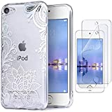 IDWELL iPod Case for iPod Touch 7 Touch 6 Touch 5,Soft Bumper,TPU Clear Case,Slim Lightweight Colorful Shiny Flexible...