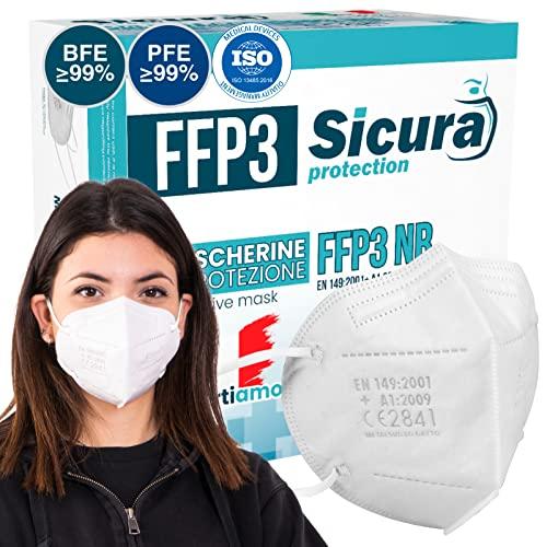 10 Mascarillas FFP3 CE Sin Válvula