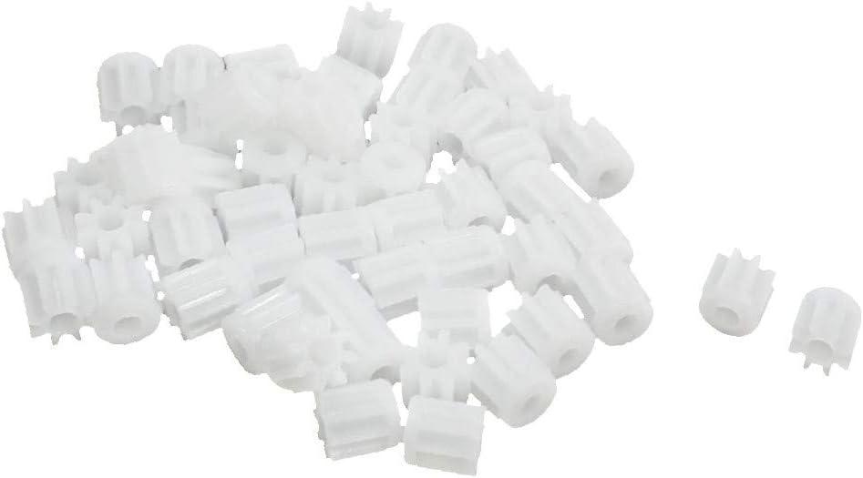 X-DREE 50 Pcs 5mm x 2mm 8 Teeth Cog Gear T DIY OFFicial shop for Wheel Plastic Max 55% OFF