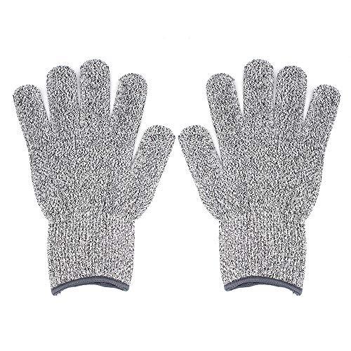 Snijbestendige handschoenen - CE EN388 gecertificeerd, Niveau 5 bescherming - Handschoenen voor handbescherming Keuken voedsel Grade Handschoenen voor Tuin, Jacht, Houtsnijwerk, Mechanische Reparatie, L, 1