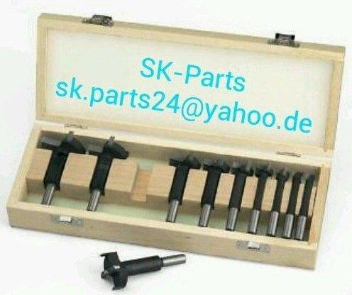 10tlg Satz HW HM Kunstbohrer im Holzbox 10-50mm Forstnerbohrer