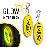 CRYSTAL FISH Floating Keychain Foam Yellow Floatable Key Chain – Lightweight Practical Key Chains for Boats...