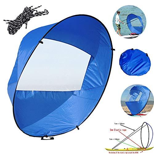 Gorge-buy 42' Downwind Wind Sail Kit,Durable Foldable Kayak...